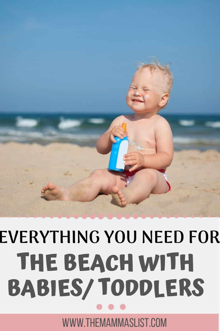 All the things you need for a great beach vacation with a baby or toddler. What to pack for a fun trip including sun protection, toys, beach tents, and how to prep for a family beach vacation.