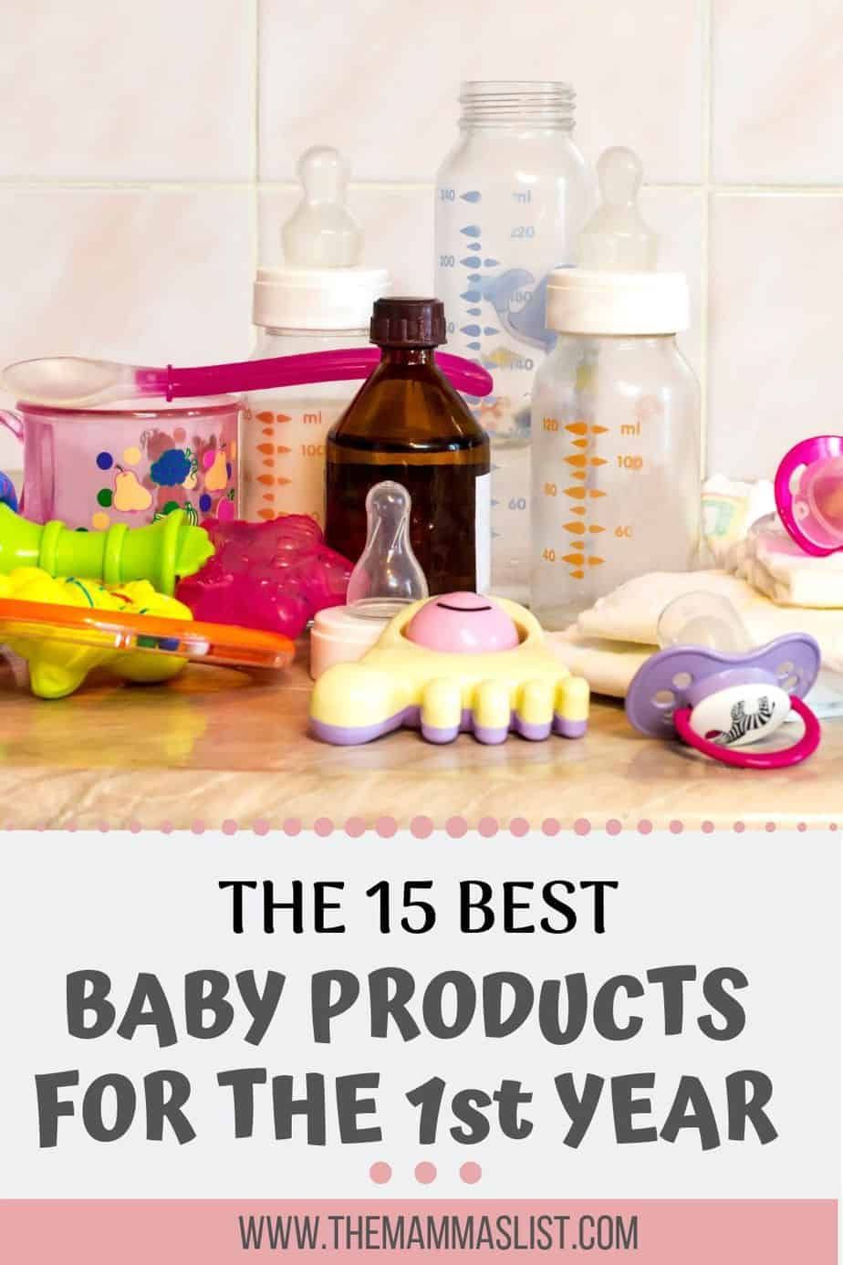 There are so many baby items that it can be overwhelming as a new mom. These are the top 15 baby products we used the first year. They're all must haves on your baby registry and were 100% worth the money. Check out what we REALLY needed the first year with an infant.