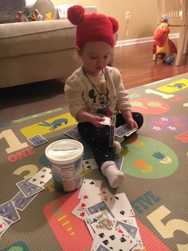 toddler activity cardsorting