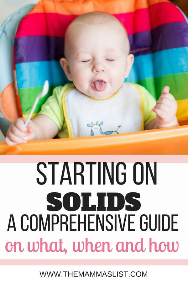 how to start your baby on solids