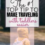 Busy bags can save your sanity when traveling with toddlers or when you just need to keep them quiet for a little while. Click through for our number one way to survive traveling with toddlers. Bonus: they're SUPER easy to put together.
