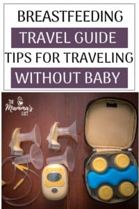 Pumping while traveling and being away from your baby isn't always the easiest. Checkout this breastfeeding travel guide to make pumping while traveling with milk a little easier and less stressful!