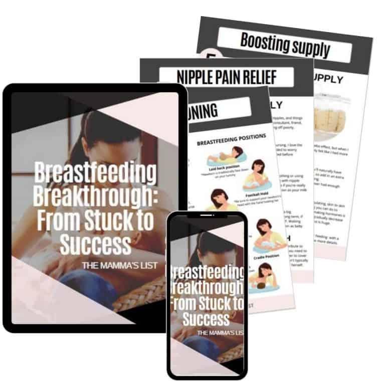 breastfeeding breakthrough ebook mockup mobile