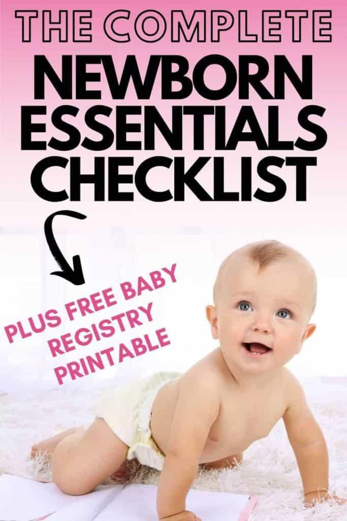 Newborn baby essentials checklist printable