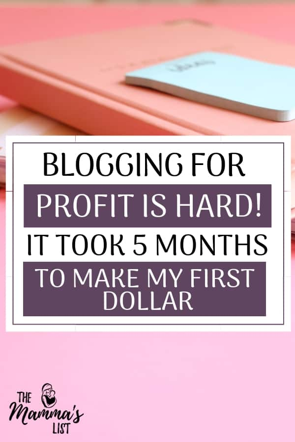 Blogging for profit is HARD work. I'm not one of those bloggers that made $5000 her fifth month blogging. Check out how I made my first dollar (after FOUR MONTHS) and what I'm implementing to continue monetizing. Business blogs are no joke, but with persistance and hard work, it can be done
