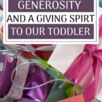 Instilling generosity and teaching a giving spirit is important to do from an early age, but HOW do you teach a toddler about generosity? We allowed our little one to choose how to give during her first holiday seasons. Hopefully these strategies help you instill a generous nature in your children too!