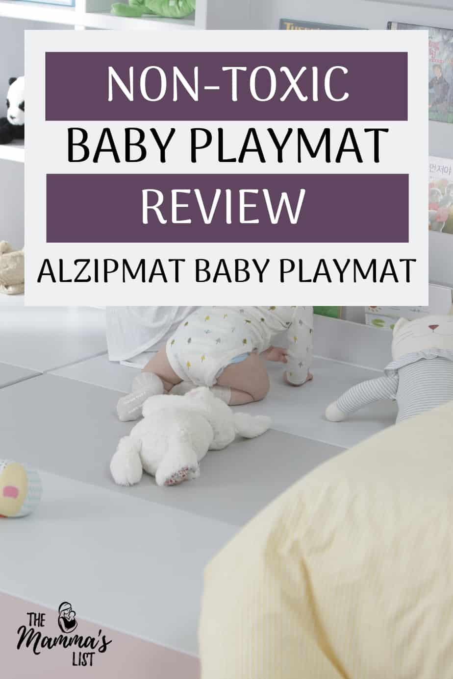 Keep your baby safe from harsh chemicals and toxins by ensuring your infant and toddler products are made from the right stuff. Your baby playmat is where your little one will spend a lot of time, so understanding what it's made of is super important. Check out my review of the non-toxic Alzipmat baby playmat to find out what we love (non-toxic and chemical free) and what you should know if you're planning to buy one!