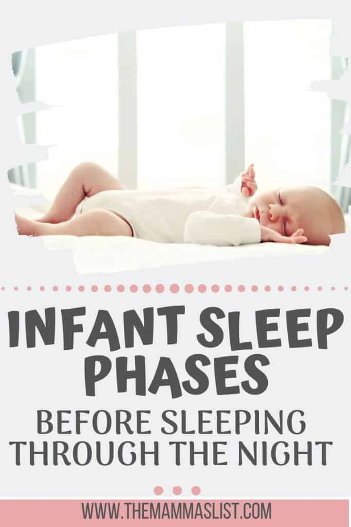 Baby sleep is a hot topic on all new moms' minds. Find out key information about baby sleep cycles and what you need to know about sleeping through the night. These infant and baby sleep tips will help keep you sane as you're navigating sleep regressions and the sleep challenges of infancy. The infant sleep stages are tough at first but only last for a short time!