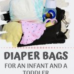 Finding the right diaper bag isn't always easy. Especially if you're looking for a diaper bag that works for an infant and a toddler. Check out the best diaper bags I found for infants, for toddlers, and for two kids! One of them is a diaper bag backpack that's awesome for travel and for being on the go hands free. I've reviewed two great styles of diaper bags (plus other options) that are great for both babies and toddlers.