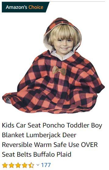 car seat poncho