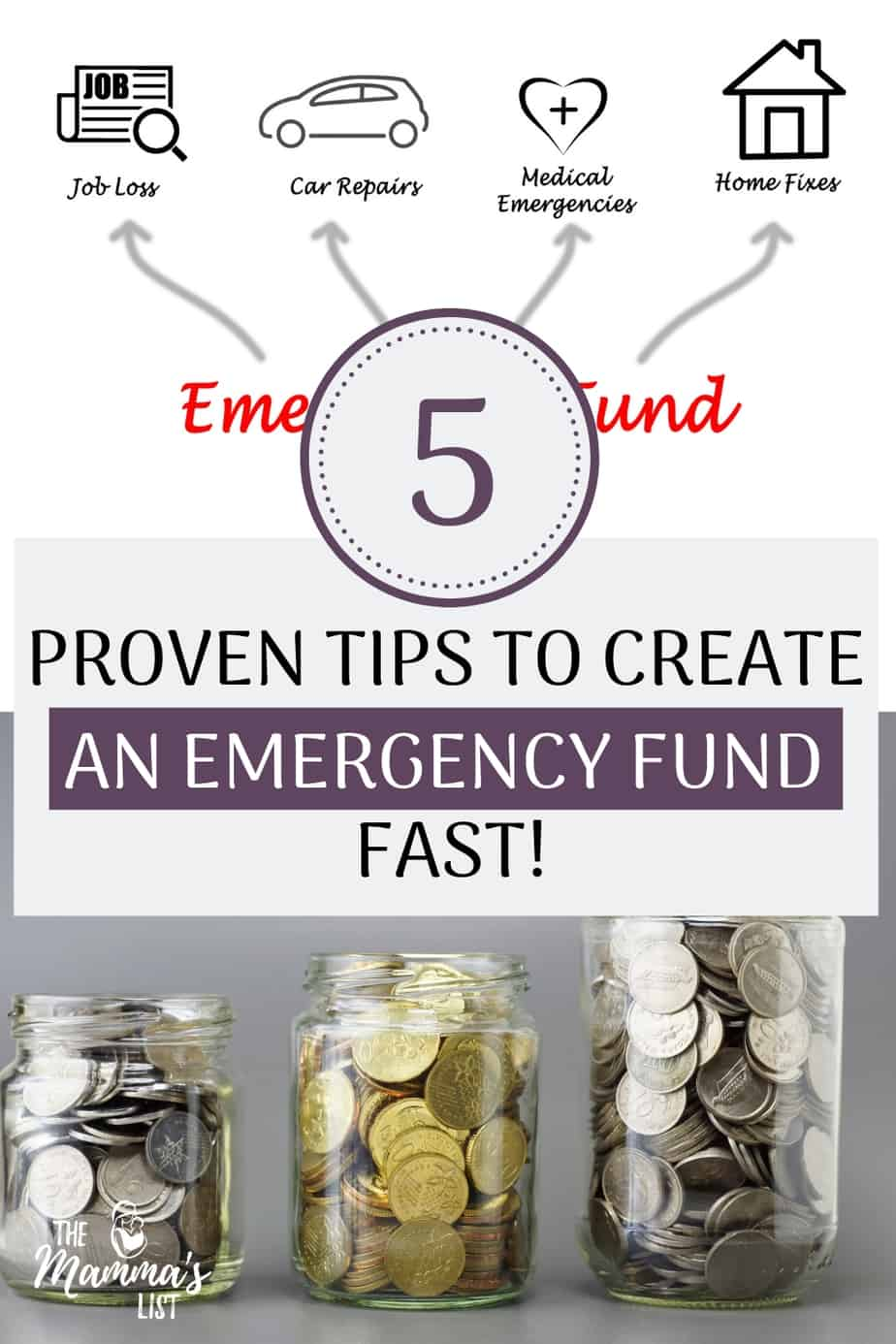 Five strategies guaranteed to help you save money and build an emergency fund fast. Take away the stress and worry from finances by beginning your emergency fund now! Check out the five tips we used to save over six months of living expenses in less than a year!