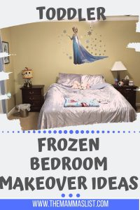 Planning to transition our little girl into a toddler room was really fun. We researched a ton of toddler girl bedroom ideas and toddler girl bedroom inspiration before finally settling on a Frozen toddler girl bedroom theme. Luckily there were a ton of Frozen items out when we made the transition and her toddler bedroom makeover was awesome.