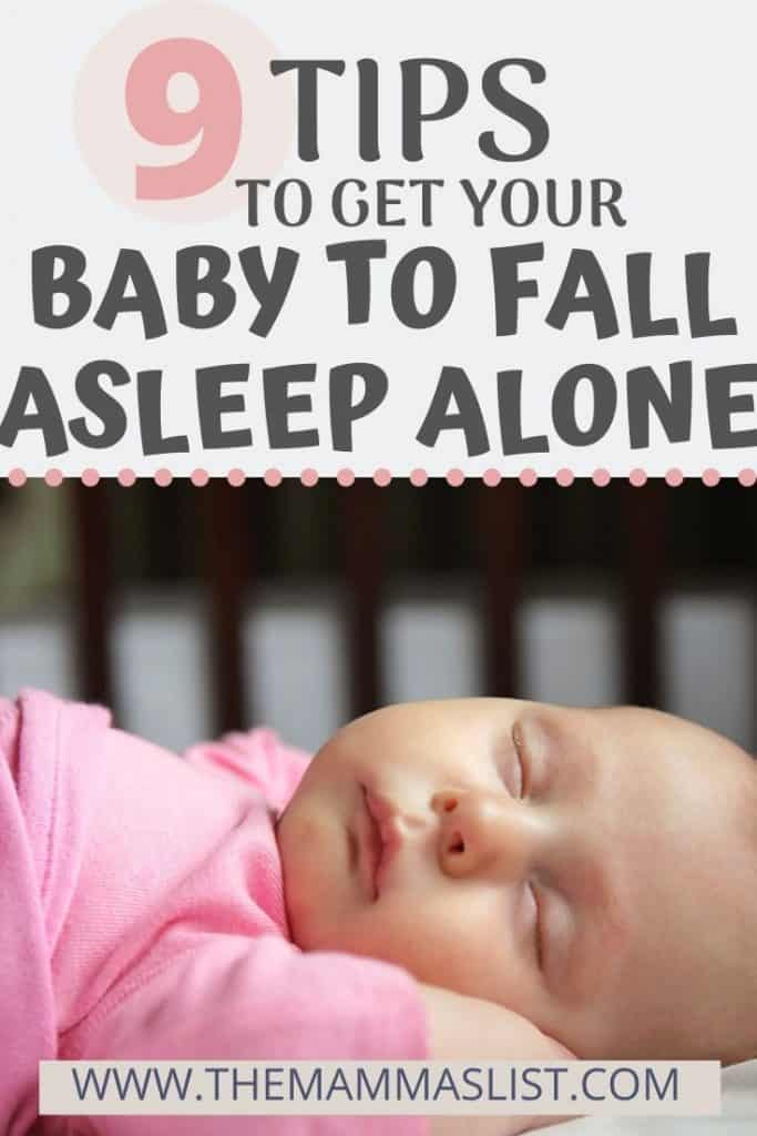 If you're struggling with baby sleep one of the most important things you can do is get your baby to fall asleep alone. However, this is easier said than done. Click through for quick tips to help your baby fall asleep alone, avoid the newborn sleep crutches, and learn the most important ways to get your infant more sleep - without your help!