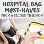 Packing on the essentials for the hospital can be challenging. Find out what to pack in your hospital bag from a second time mom. You'll find labor essentials for mom and what to pack in your hospital bag for dad and for baby + free hospital bag checklist!