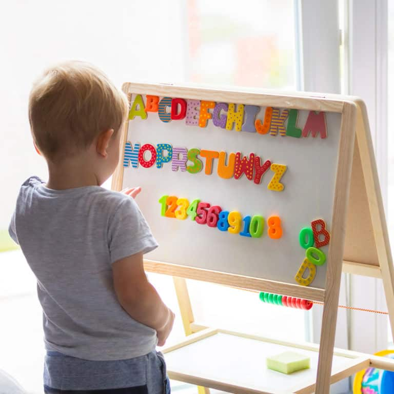How to teach toddlers (anything) with magnets