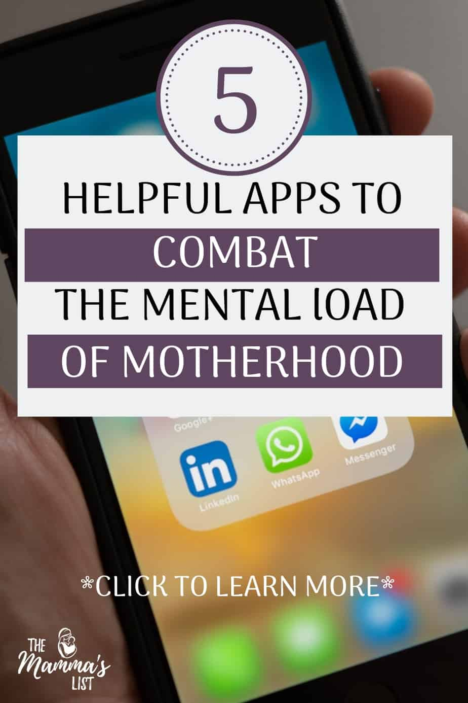The mental load of motherhood is real. It's that constant hampster wheel in your head of all the things you need to do for the day - doctor's appointments, snack for daycare - you name it. And it can really weigh you down. Here are five crazy helpful apps to help combat the mental load of motherhood, so you're not doing it all yourself.