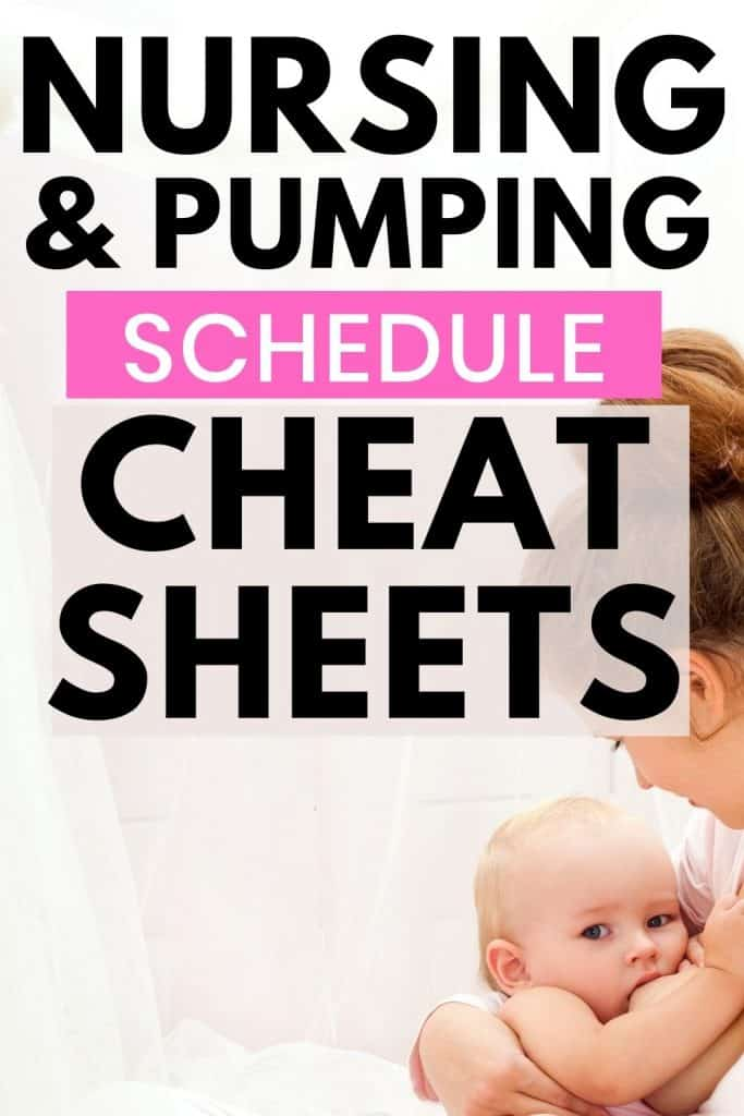 Breastfeeding & Pumping Schedules for newborns through the first year