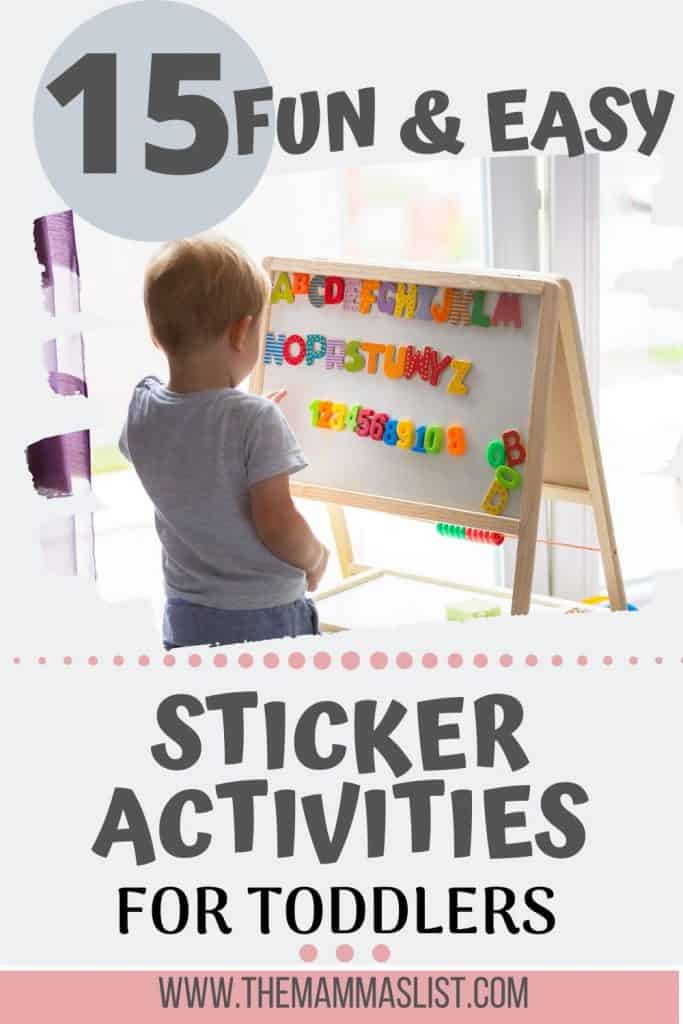 There are so many benefits of sticker activities for toddlers and preschoolers. From behavioral reinforcement to fine motor skill development, sticker activities are awesome. Find out 15 fun and easy sticker activities for toddlers that you can do today. Learning colors, letters, and shapes are only some of the benefits toddlers can get from stickers. Bonus - they're a low mess activity!
